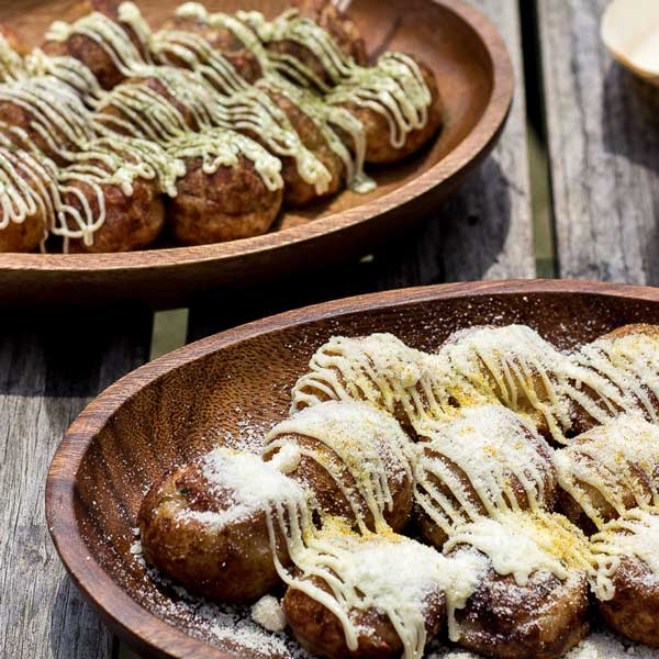 Quick and Easy Takoyaki Recipe - Create this CRISPY and GOOEY Japanese street snack in minutes with just one chopstick! Ready to impress? | wandercooks.com