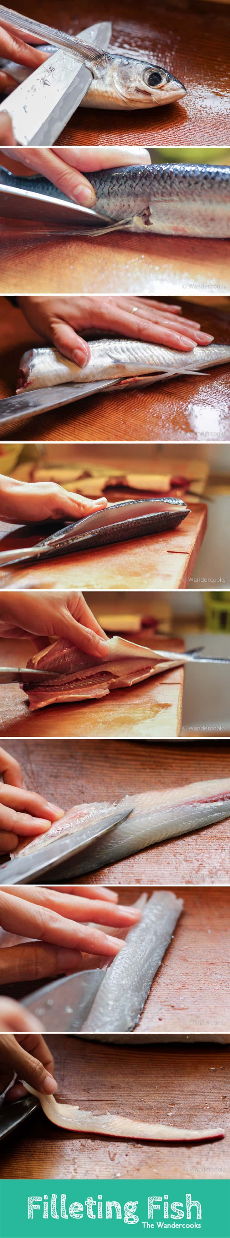 Step-by-step guide to filleting flying fish by the Wandercooks.