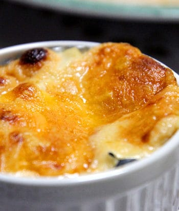 Tofu Gratin Recipe - crunchy cheese on the outside and yummy gooey goodness on the inside.