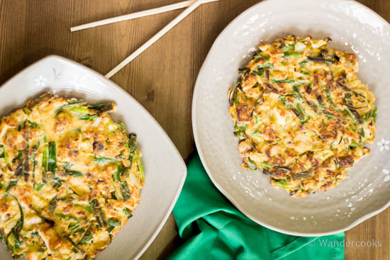 Haemul Pajeon Korean Seafood Pancakes | Wandercooks