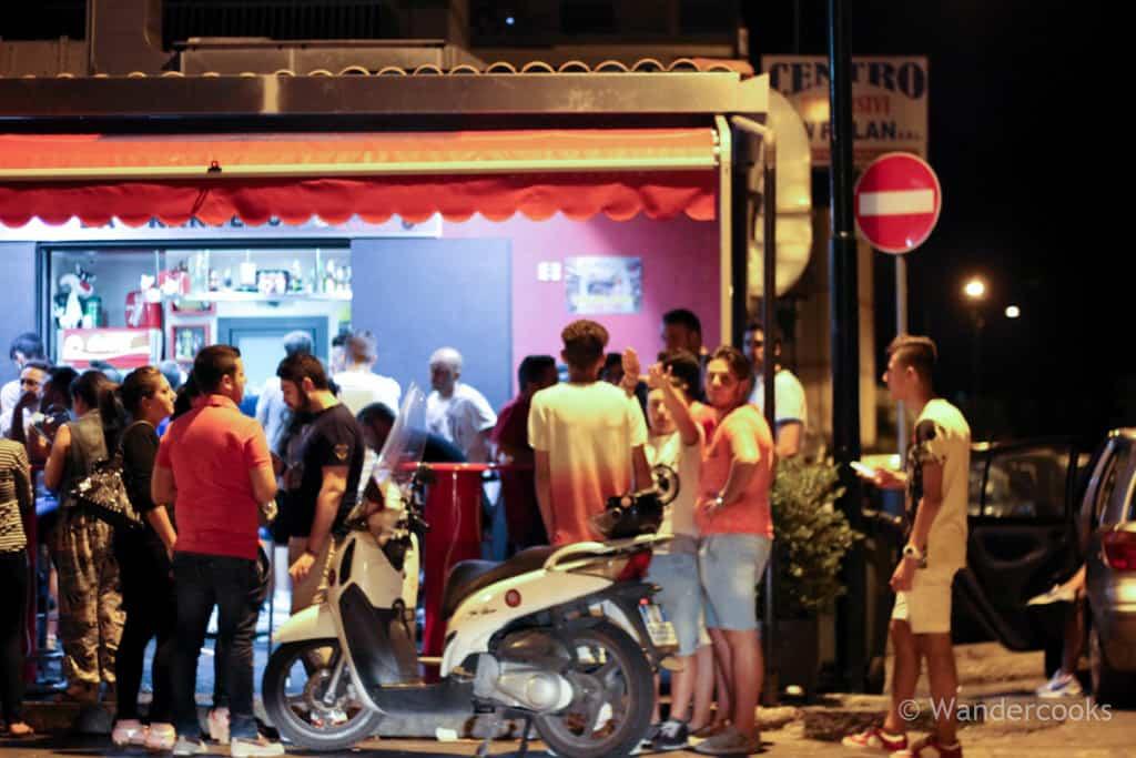 Paninoteca da Francesco - With few seats, Francesco's clientele spill out onto the street.
