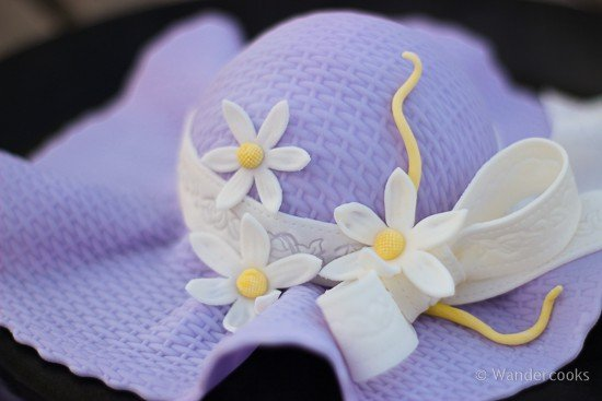 The detail on the sugarcraft hat.