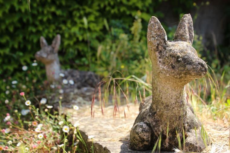 Capadau Organic Pork Farm - These deer statues looked so real from afar.