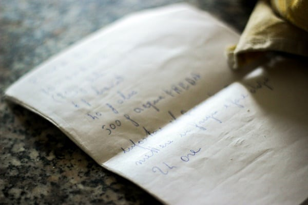 Pizza Dough Recipe from Southern Italy - The handwritten recipe for the perfect pizza, Napoli style.