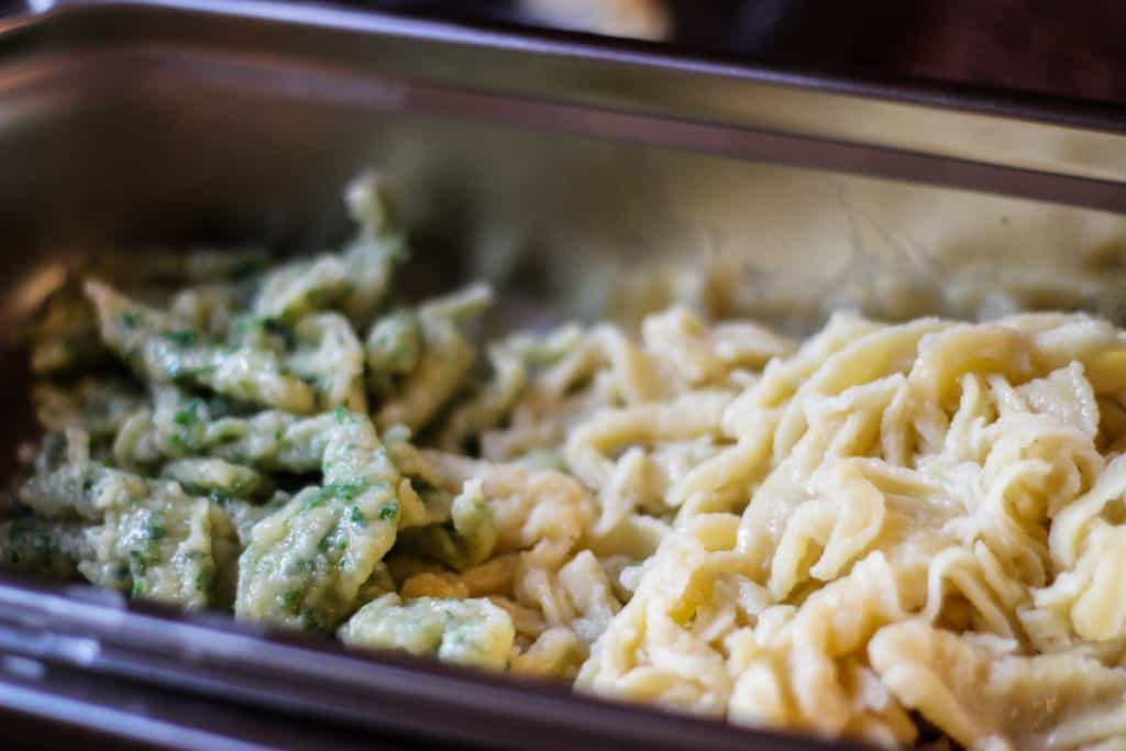 Bavarian Spatzle Recipe - Plain spatzle and herbed spatzle are both equally delicious.