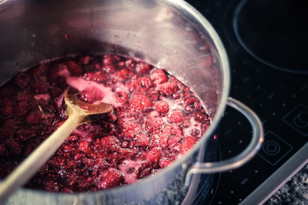 Raspberry Jam Recipe - We loooove the rosy red raspberries.