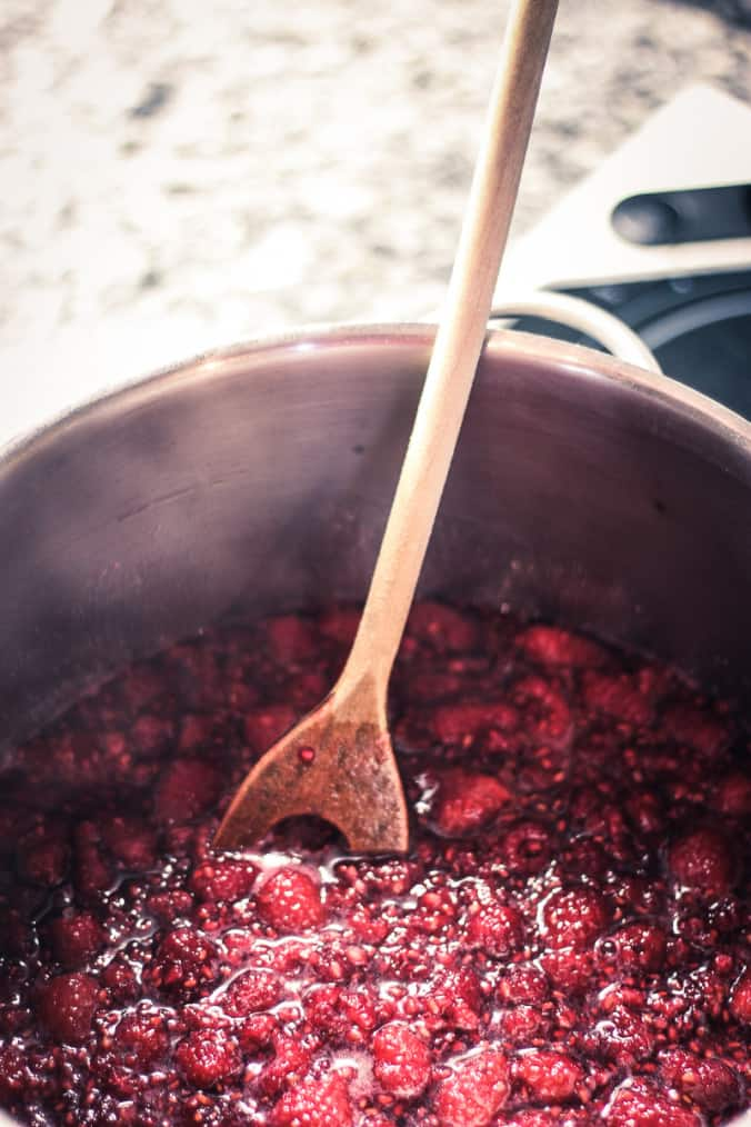 Raspberry Jam Recipe - Stir the jam gently but consistency while cooking.