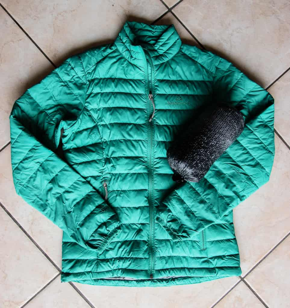 Travel Packing List - Lightweight down jackets compress small but heat great!