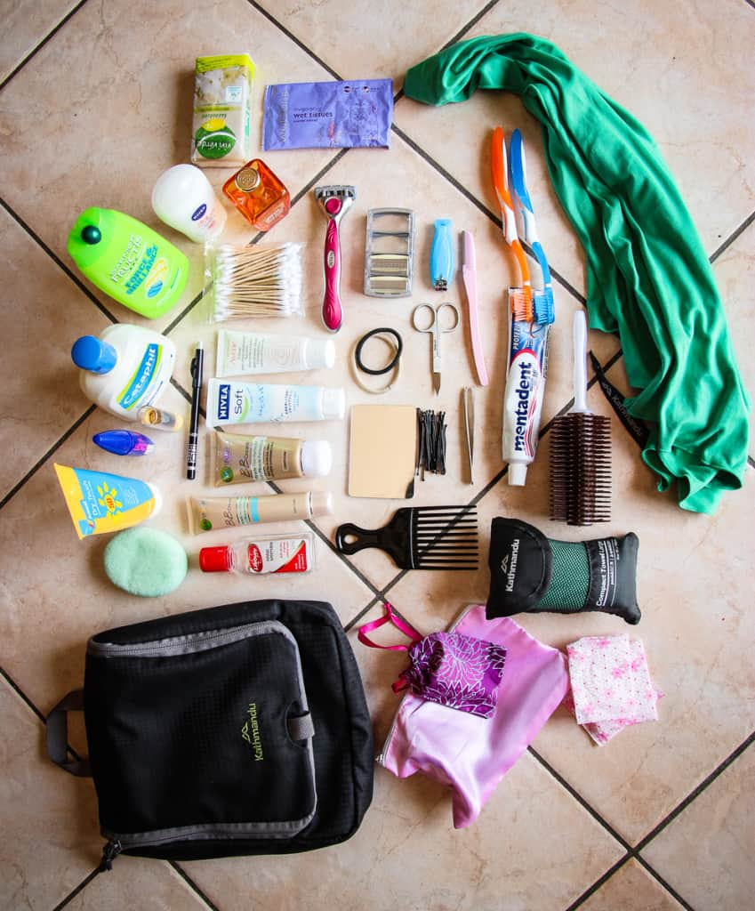 Travel Packing List - What to pack for Toiletries