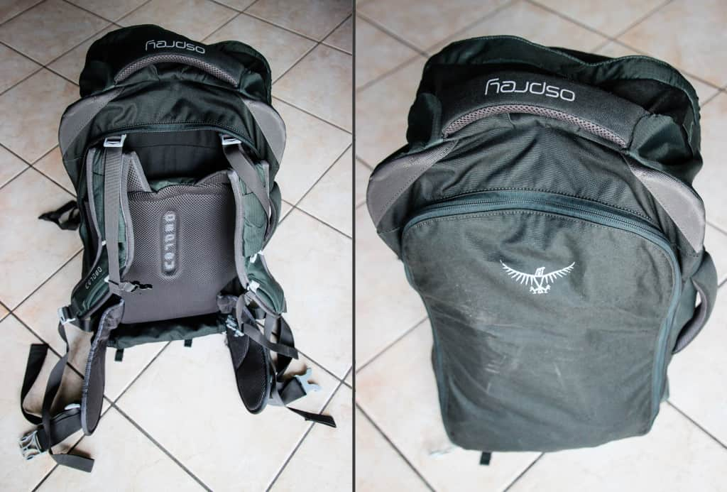 Travel Packing List - The Osprey Farpoint 55 features a handy fold-away harness system, pefect for travelling on public transport such as buses and trains.