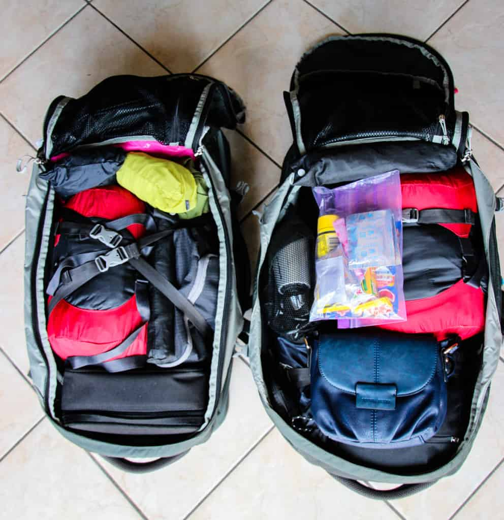 Travel Packing List - How to pack your main bag.