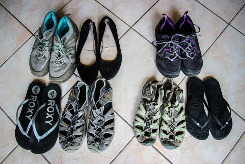 Travel Packing List - What shoes to pack while travelling