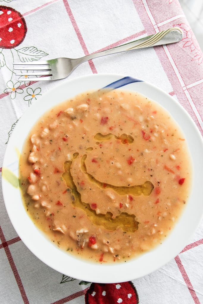 Fasule Bean Soup - a light yet filling lunch or dinner that tastes even better the next day.