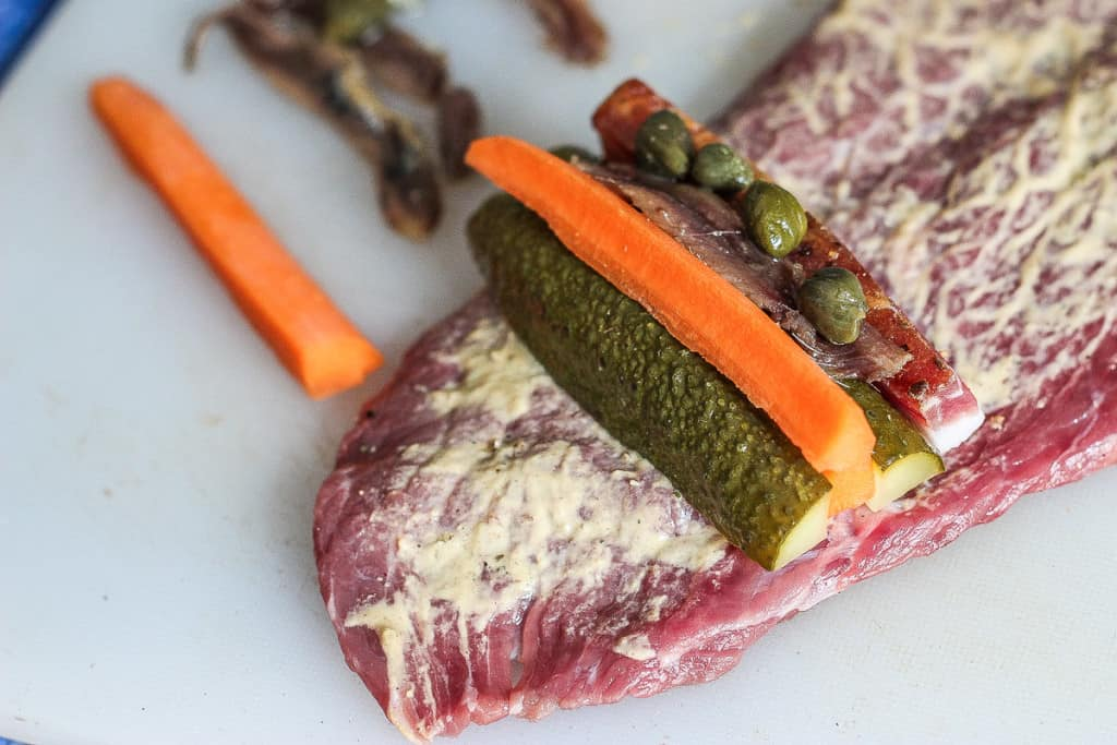 Viennese Beef Roulade - The anchovy and capers are added for a good measure of salt and flavour.