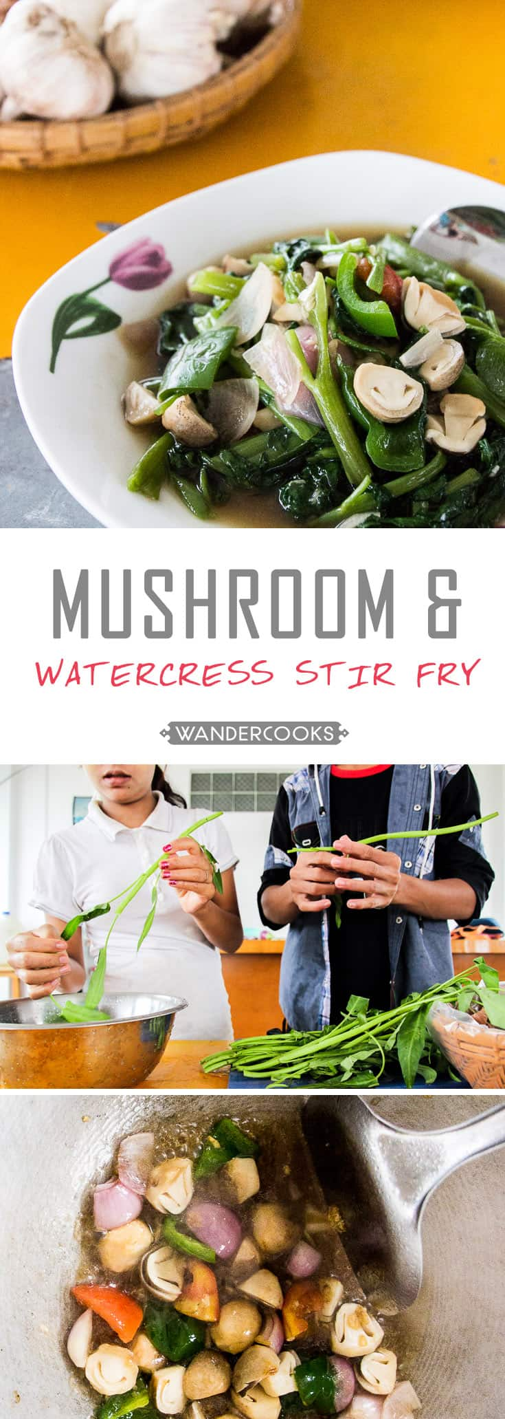 Mushroom and Watercress Stir Fry - All salty and sweet goodness you could ask for in a quick, healthy stir fry that's ready in minutes. | wandercooks.com