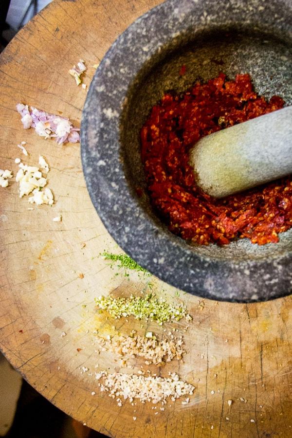 Authentic Panang Curry Paste - Noi from Chang Mai taught us the freshest, easiest, TASTIEST way to your very own Thai curry paste that you can freeze, so it's on hand when you need. | wandercooks.com