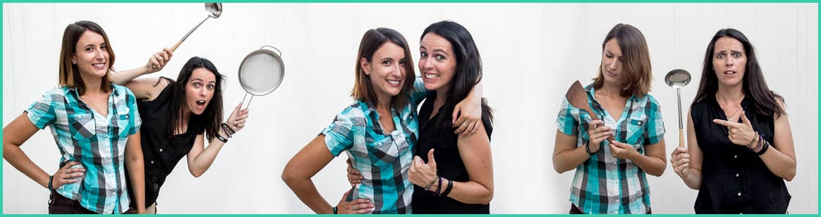 We're Sarah and Laura - The Wandercooks - Welcome to our About page.