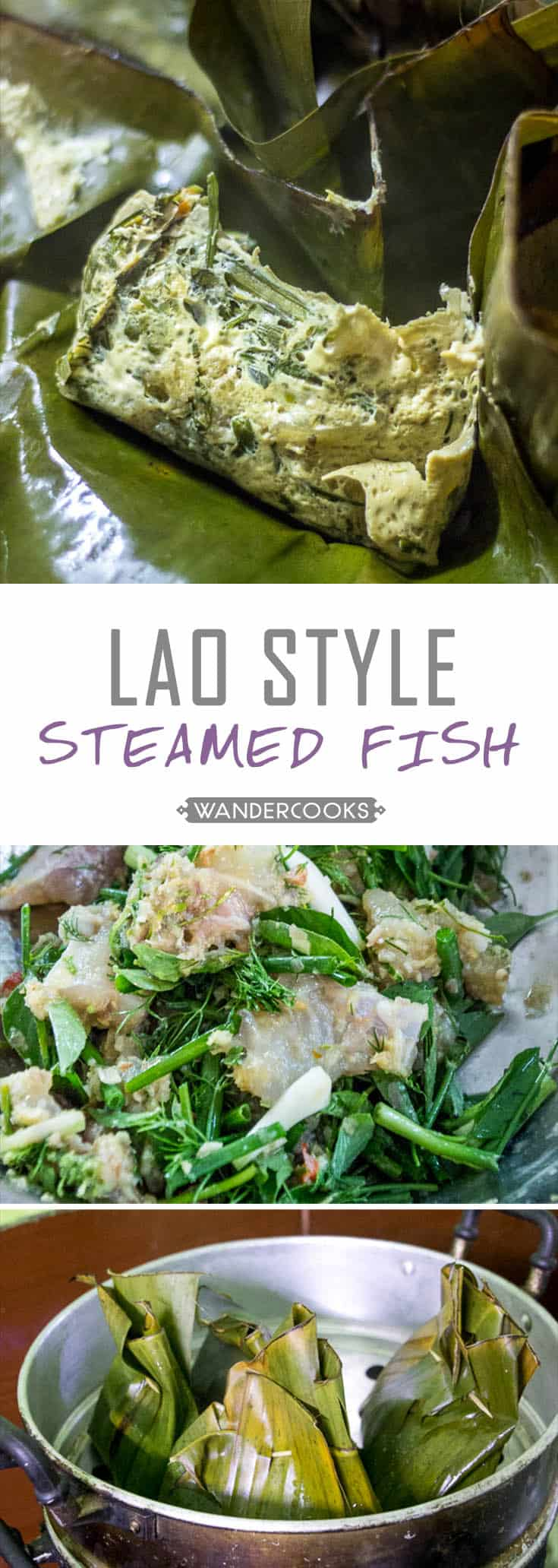 Lao Steamed Fish (Mok Pa)
