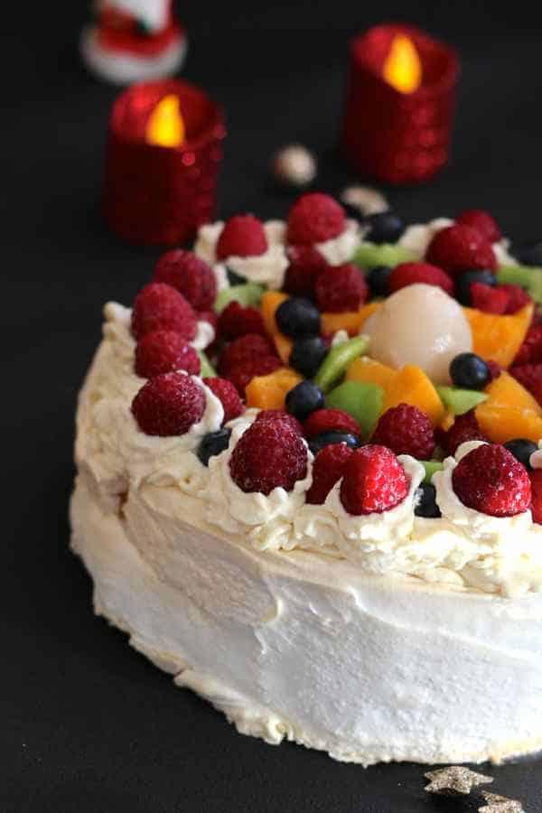 International Christmas Desserts - New Zealand Pavlova by 196 Flavors