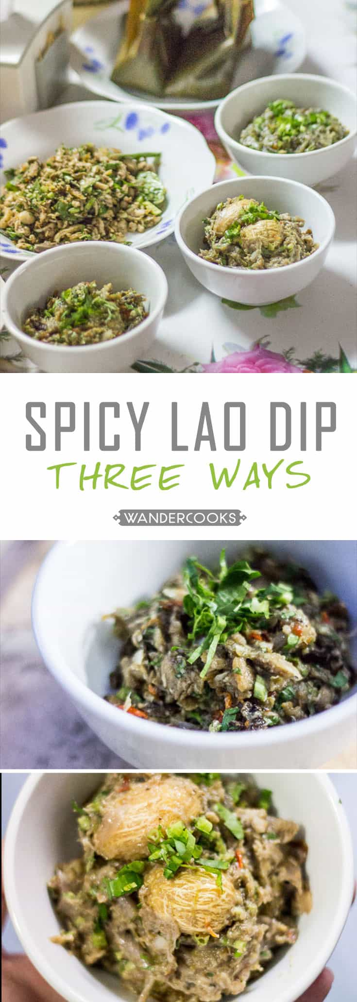 Spicy Lao Dip Three Ways - Need an IMPRESSIVE appetiser? These dips are a PINCH: Just roast, smash, serve and impress. Healthy. | wandercooks.com