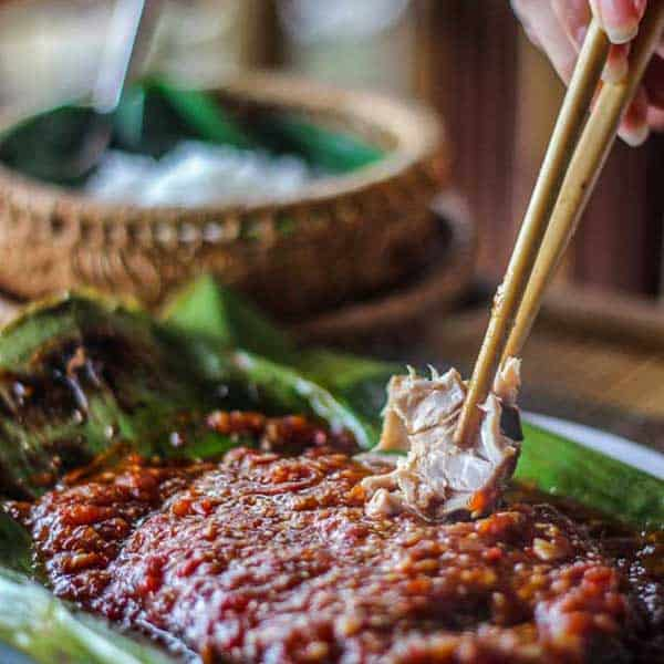 Flaming Charcoal Fish in Banana Leaves - A little bit sweet, a slight bit of salt and a lot of flaming charcoal goodness. Melt-in-your-mouth fish has never tasted so good. Pescatarian.   wandercooks.com