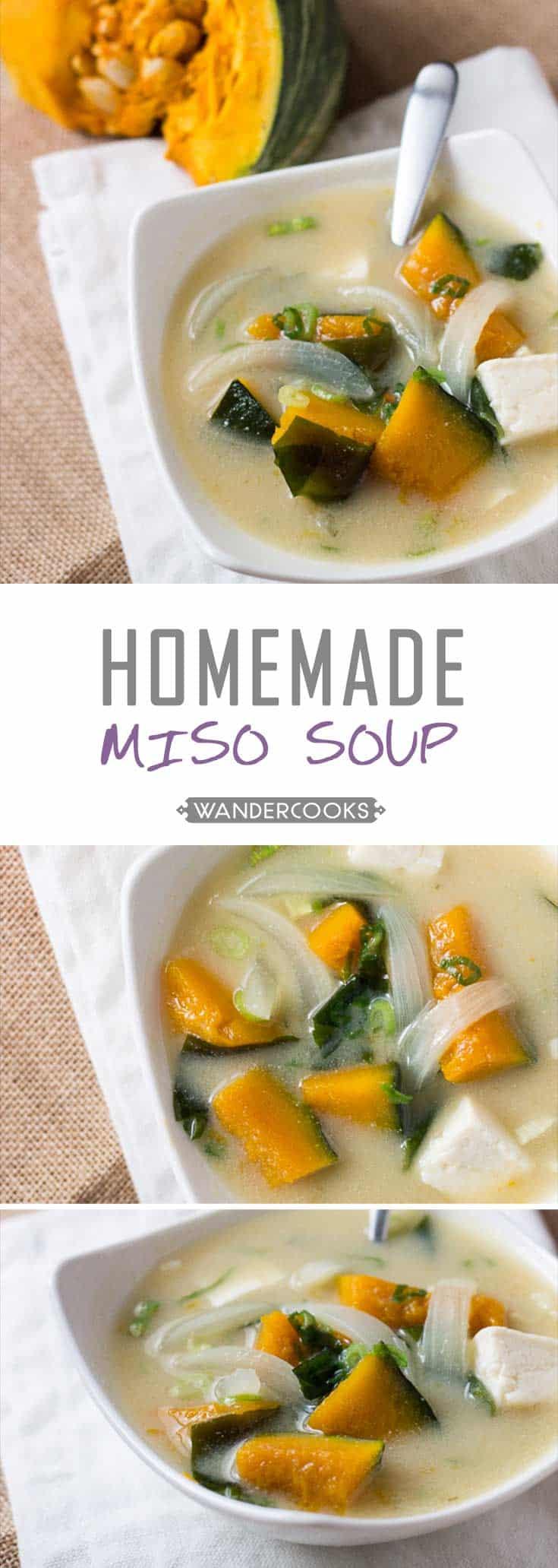 Chunky Pumpkin Miso Soup with Tofu