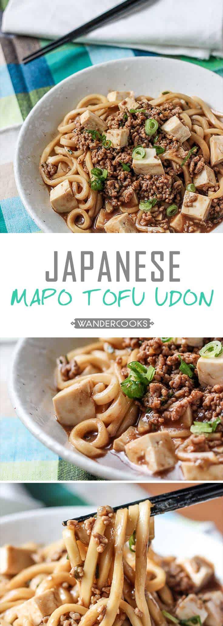 Japanese Mapo Tofu Udon Bowls