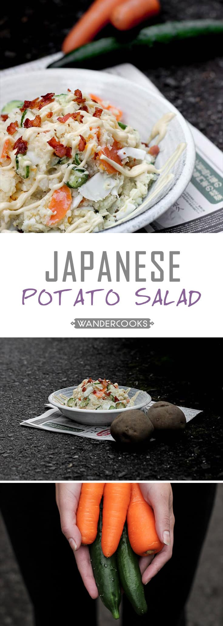 Creamy japanese potato salad wandercooks creamy japanese potato salad an authentic easy home style japanese recipe with egg and forumfinder Choice Image