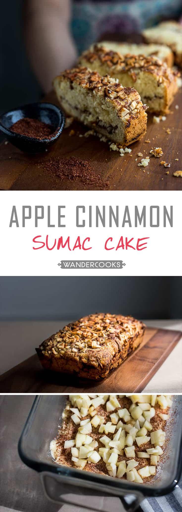 Spiced Apple Cinnamon Sumac Cake