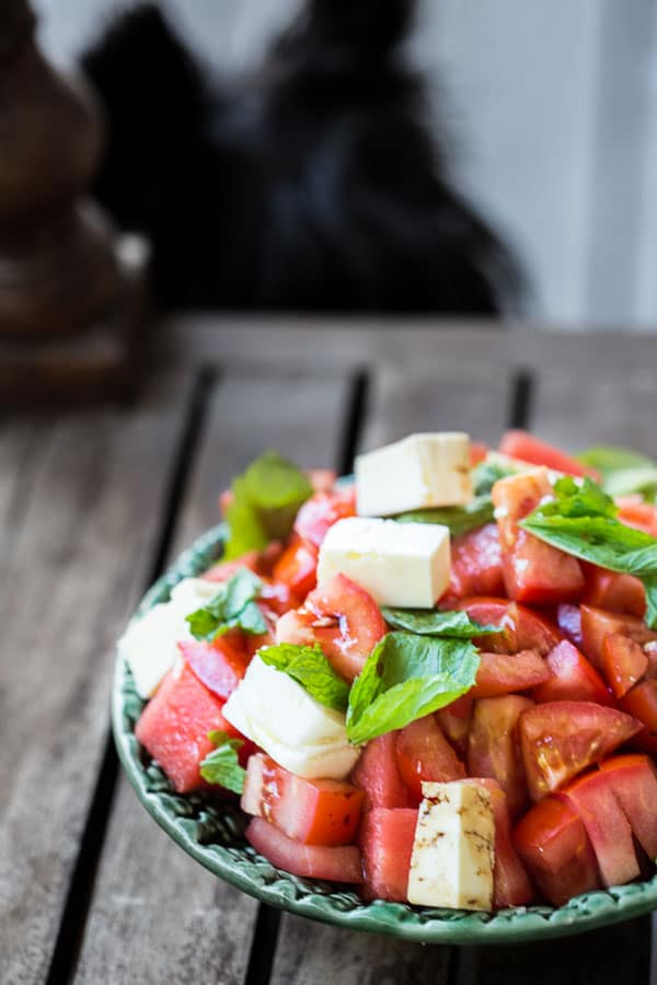 Greek Watermelon Tomato Feta and Peppermint Salad ...