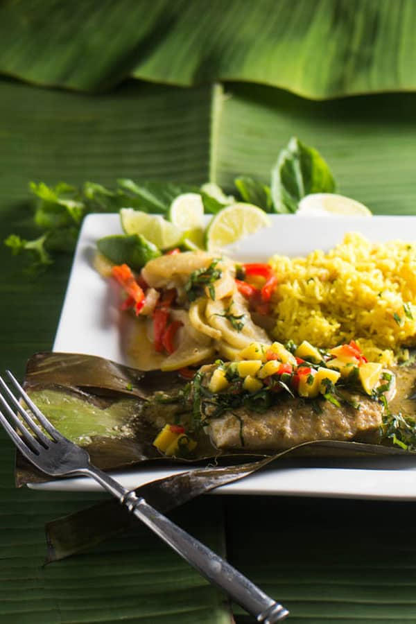 Beyond India: 13 Asian Curries To Rev Up Your Spice Addiction - Thai Curried Snapper in Banana Leaves by Beyond Mere Sustenance