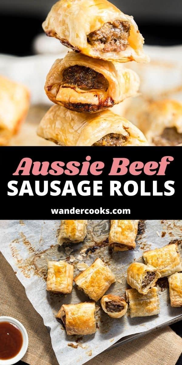 Aussie Homemade Beef Sausage Rolls