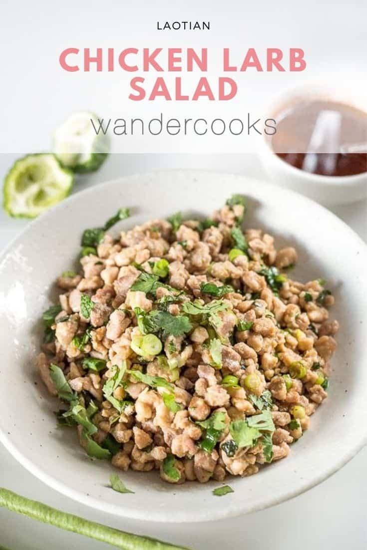 Laotian Chicken Salad (Lao Larb Gai)