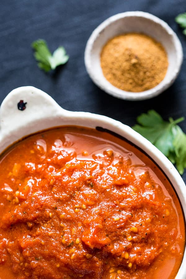 Tomato puree is a very common and important ingredient in Greek cuisine. It is made by grating tomatoes on a box grater, but there's an easier way these days: puree them in a food processor.. Nothing could be easier, just core the tomatoes and throw them in the food processor.