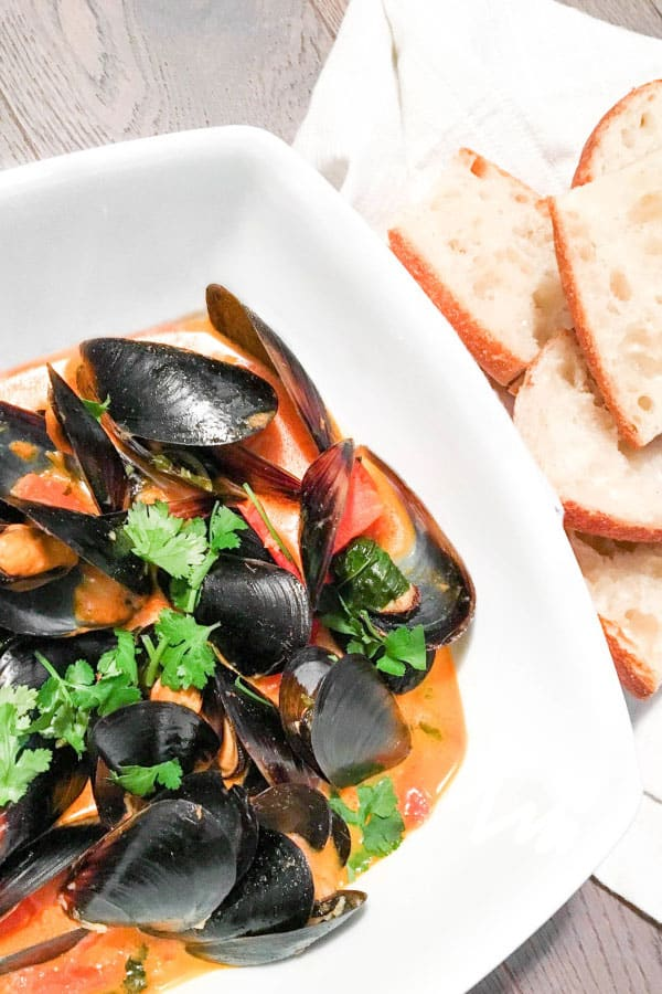 11. Thai Red Curry Mussels by Ahead of Thyme