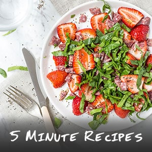 5 Minute Recipes Collection - Don't have time to cook? Then these are the easy recipes you can whip up in minutes. | wandercooks.com