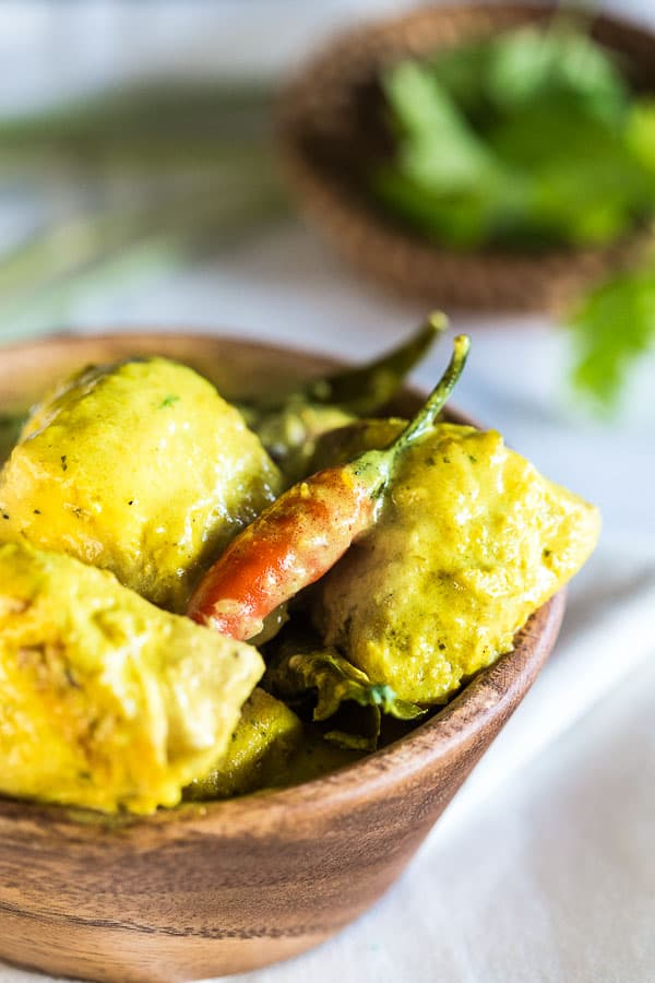 Creamy Indonesian Curry with Fish (Kari Ikan) - Creamy coconut, tangy lemongrass and tender white fish. Delicately spiced, this aromatic recipe is a winter curry winner. | wandercooks.com