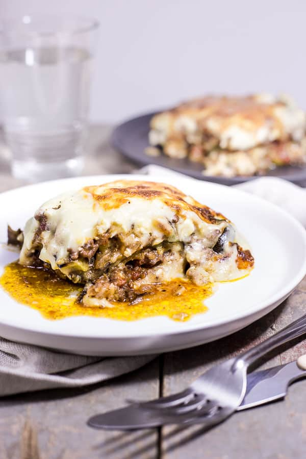 Easy Moussaka Greek Vegetable Bake Roasting Frying Simmering And Baking All The Glorious