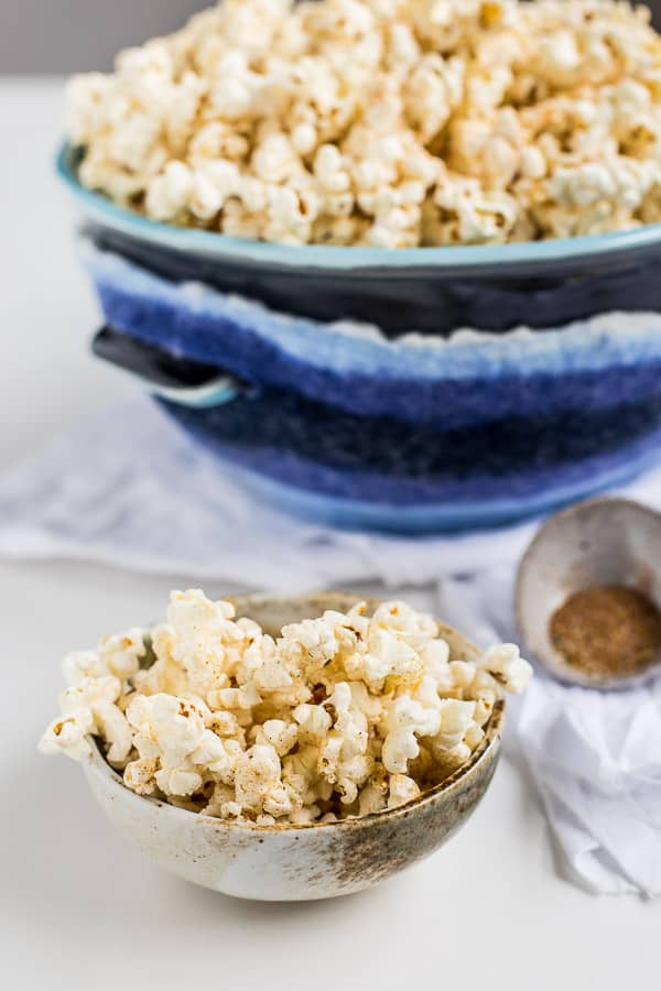 Ethiopian Style Spicy Popcorn Recipe - With all the flavour of Berbere made for salted popcorn. This is a MUST HAVE movie snack. So easy and moreish! Vegetarian and Vegan. | wandercooks.com