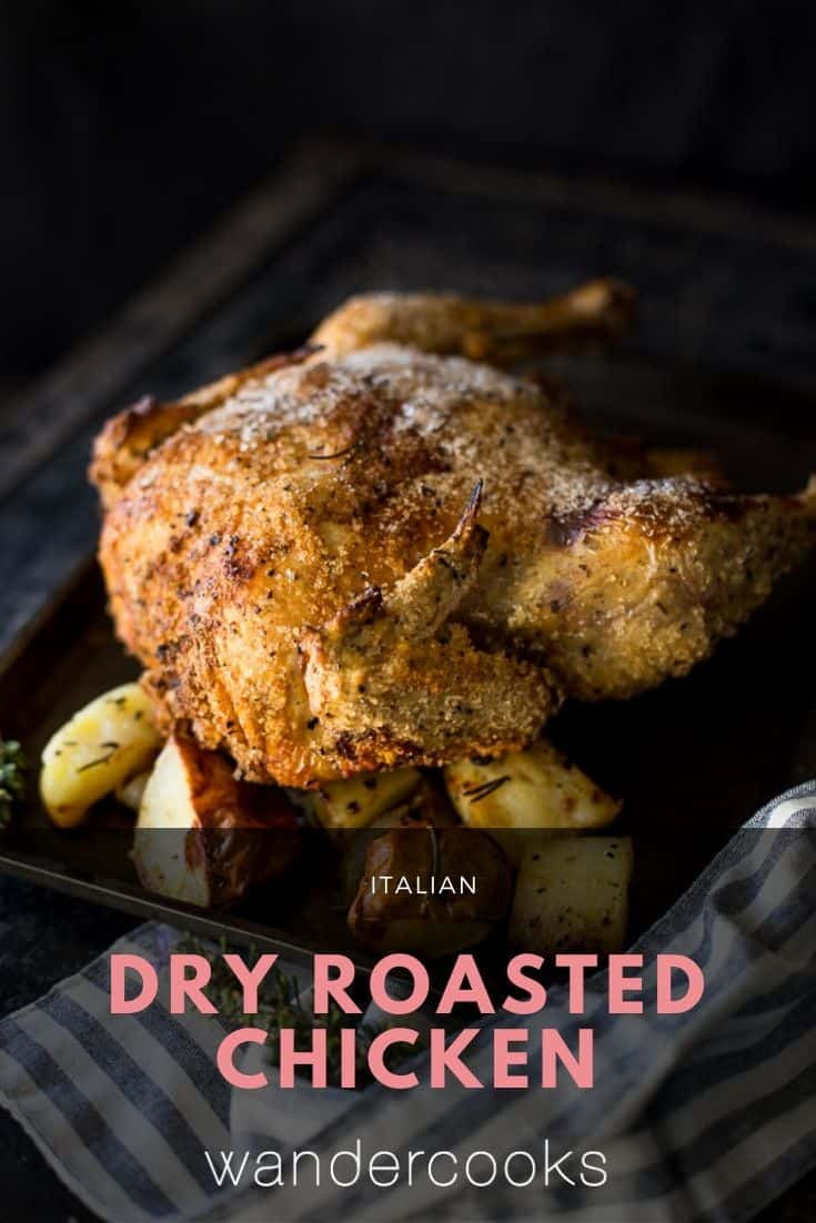 Italian Roast Chicken (Dry Salt Roast Chicken)