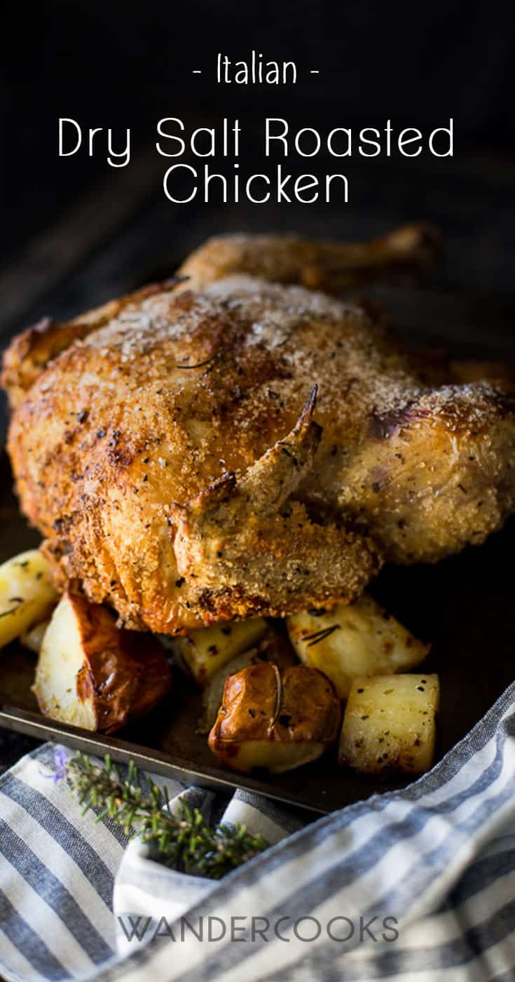 A super juicy, super tender Italian Roast Chicken recipe cooked completely without oil. All you get is soft, moist, white chicken with a crinkly, crispy skin. It\'s the perfect easy roast dinner recipe you\'ve been looking for.