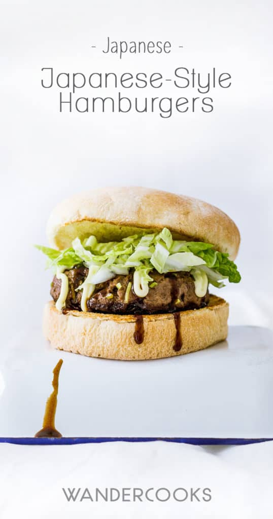 Japanese-style Hamburgers - Angus beef and umami flavours get together in this crispy, succulent burger guaranteed to satisfy at any time of the day. Oh, and Okonomiyaki sauce and Kewpie mayonnaise are the winning sauce combos here. | wandercooks.com