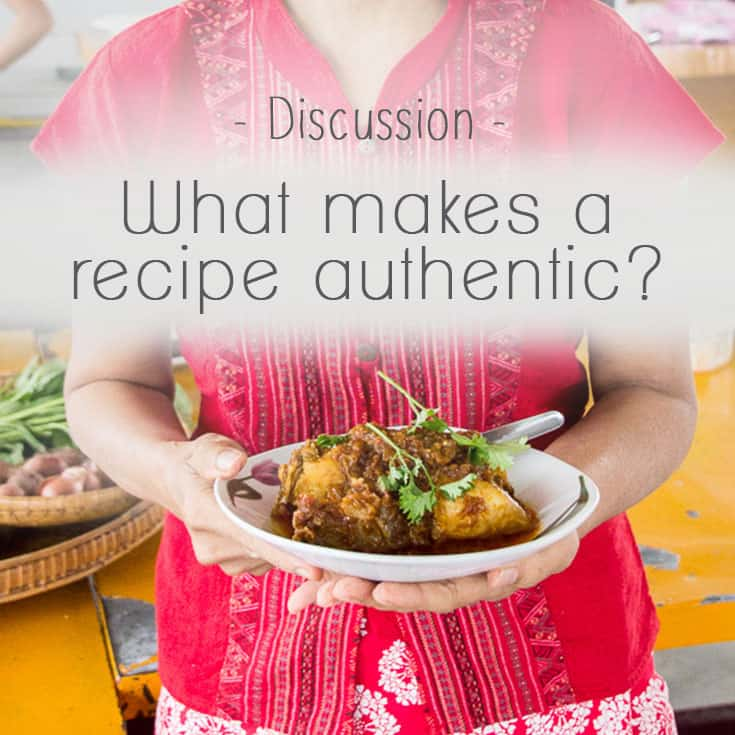 What makes a recipe authentic? We're curious. | wandercooks.com