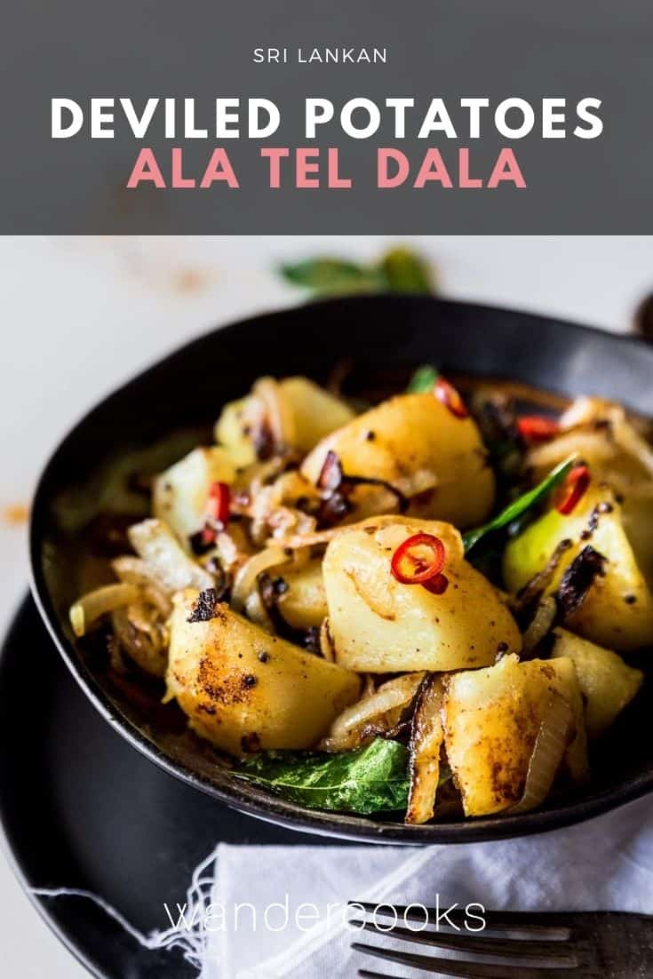 Deviled Potatoes – Sri Lankan Potato Fry (Ala Thel Dala)