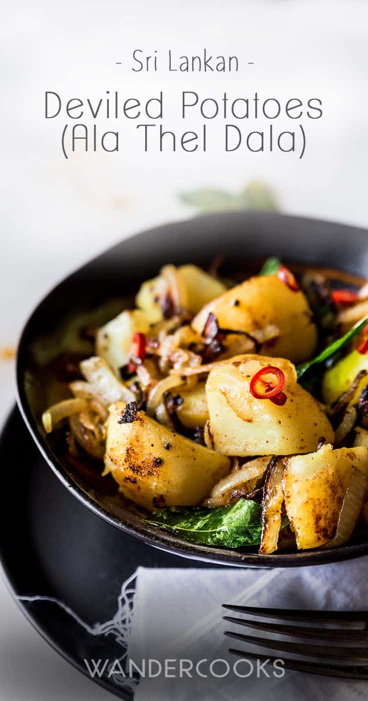 Deviled Potatoes – Sri Lankan Potato Fry (Ala Thel Dala)