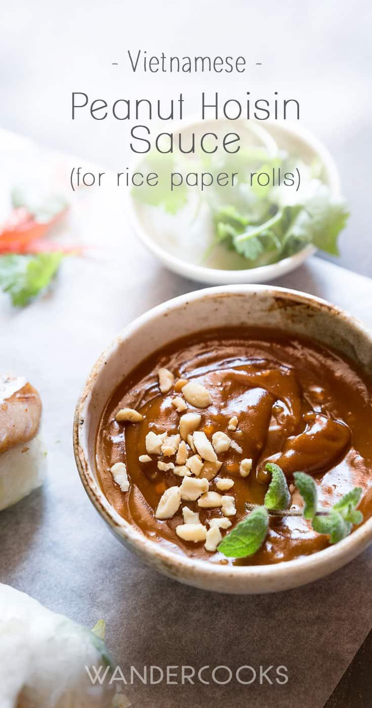 Peanut Hoisin Sauce for Rice Paper Rolls