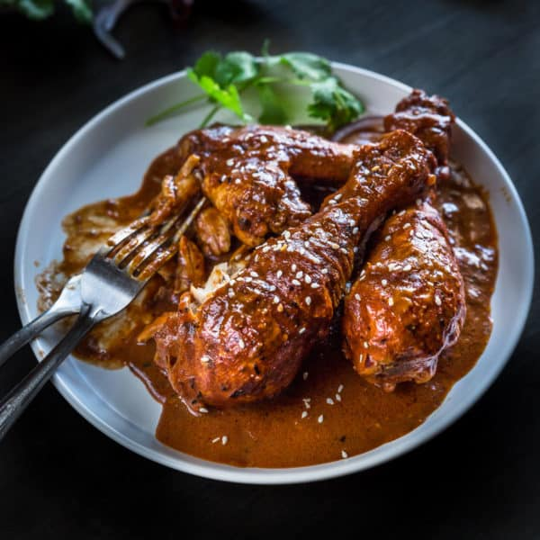Mexican Chicken Mole Recipe With Dark Chocolate Wandercooks