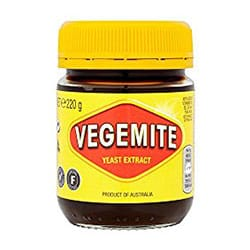 Jar of Vegemite product image.