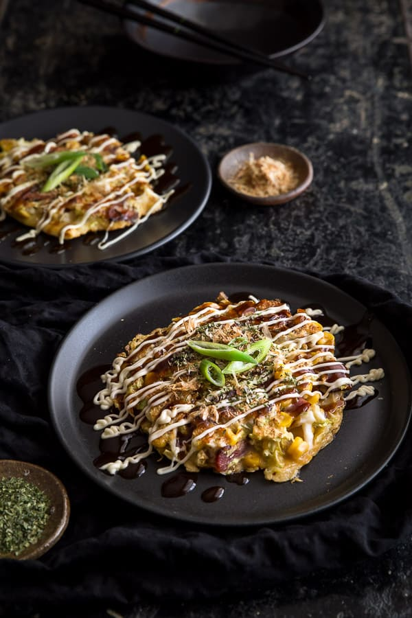 Okonomiyaki Recipe - Hungry? Whip up your very own homemade okonomiyaki - Japanese Savoury Pancakes - packed with mouth-watering flavour and just perfect for a quick and easy dinner or snack.