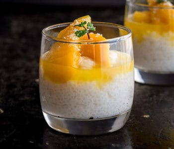 Coconut & Mango Sago Pudding Recipe - An addictive Cantonese sweet dessert you can make any night of the week with just a few ingredients. Coconut & Mango Sago Pudding is light and refreshing, the perfect ending to a delicious meal. | wandercooks.com #mango #coconut #sago #dessert #wandercooks